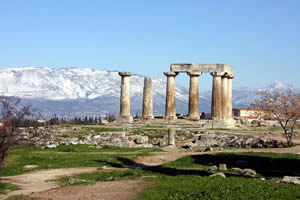 Temple of Apollo at Corinth.