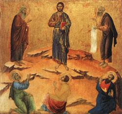 trransfiguration by Duccio di Buoninsegna