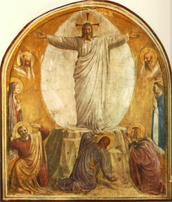 Transfiguration, Fra Angelico, Italy (1400–1455).