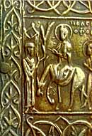 Macedonian icon of Jesus's Triumphal Entry (13th century).