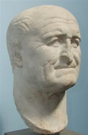 Vespasian (AD 69-79), Roman emperor when the second temple was destroyed.
