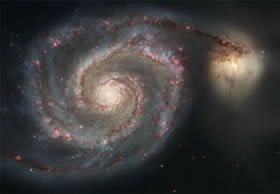 The Whirlpool Galaxy, M51, seen by Hubble in 2005.